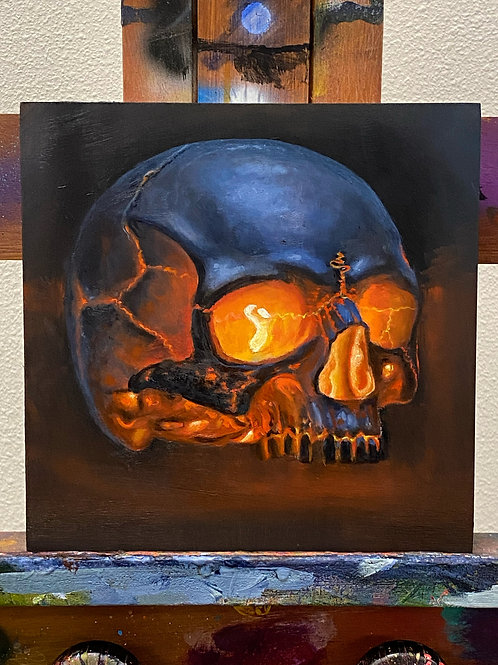 Nap Time Skull #4 - Original by Dave Barton