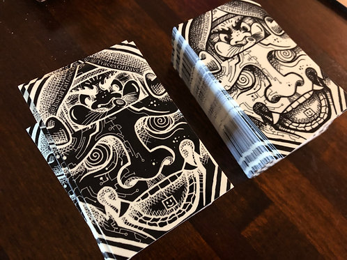 GLOWING HANNYA STICKER SET