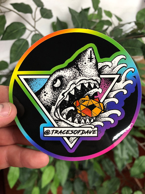 RAINBOW SHARK STICKER