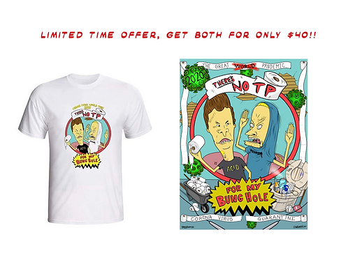 COMBO Butthead Collaborative Poster & Tshirt