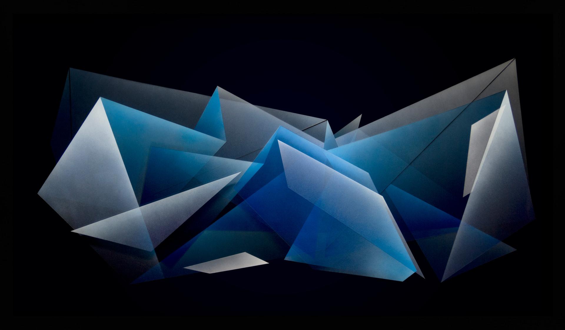 Zac Koukoravas-Black and Blue-2017-acrylic and enamel paint on acrylic-84x144cm.