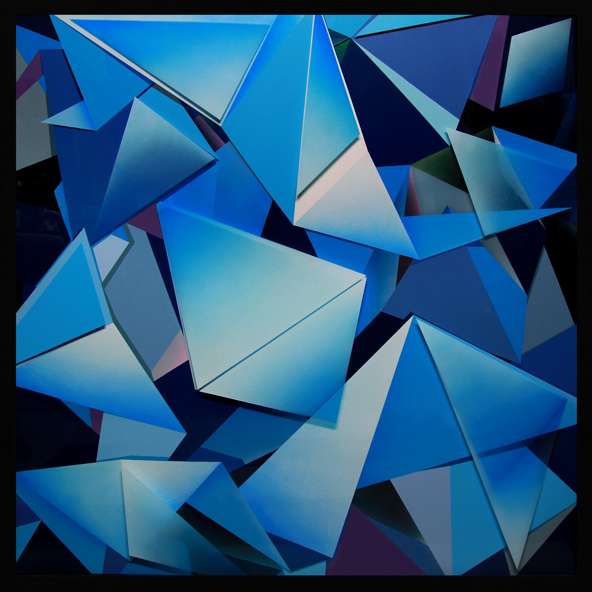 zac koukoravas-Out of the Blue-2017-acrylic and enamel paint on acrylic-153x153cm.