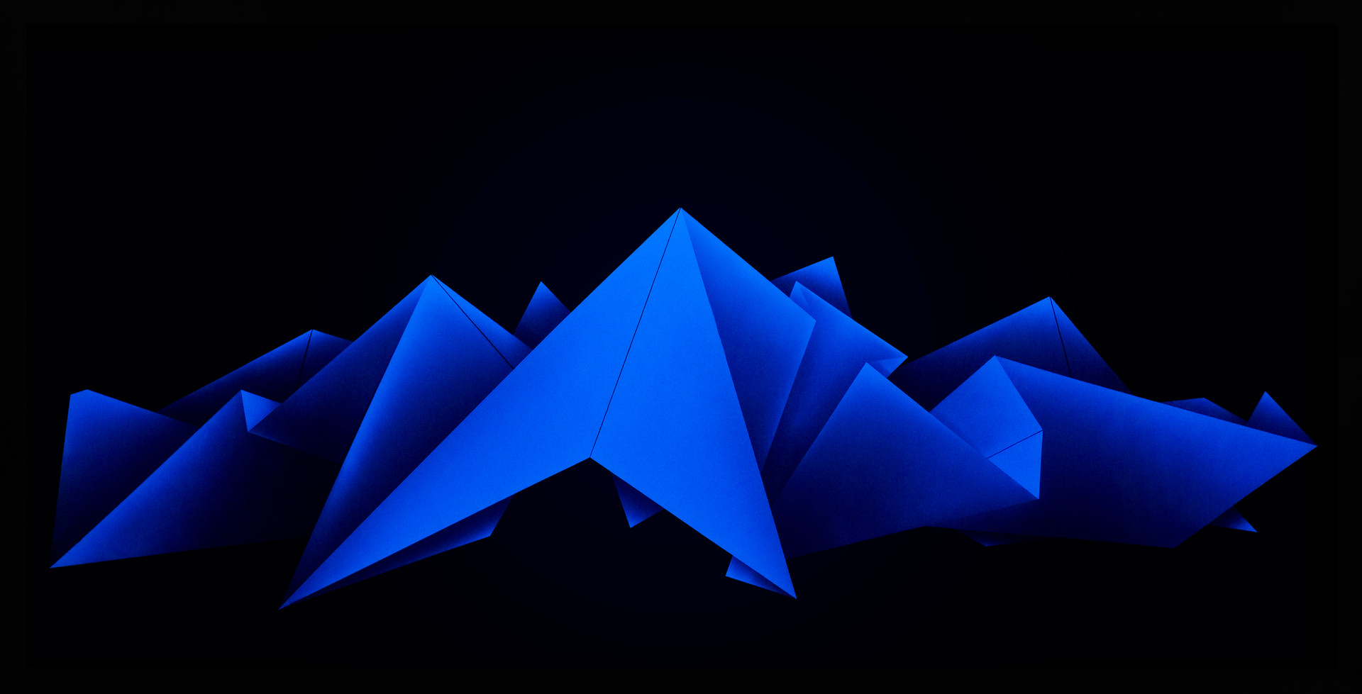 Zac Koukoravas-Blue Lines-2017-acrylic and enamel paint on acrylic-243x123cm.