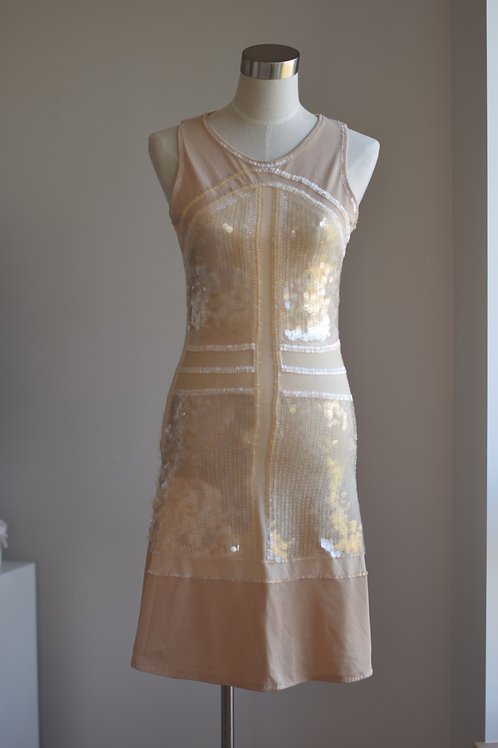 VINYL SEQUIN DRESS