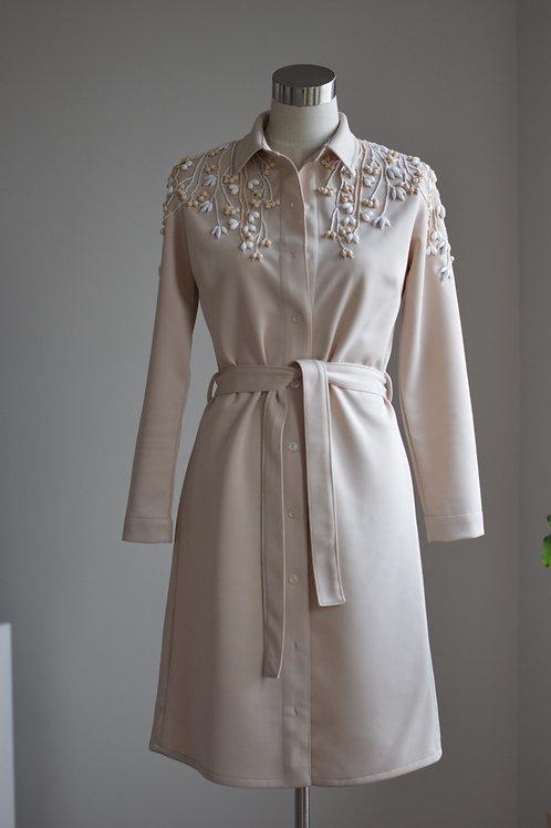FLORAL SHIRT-DRESS