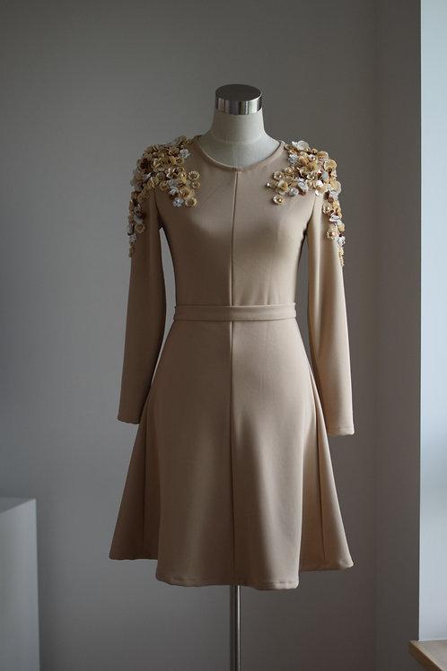 BEIGE SEQUIN DRESS