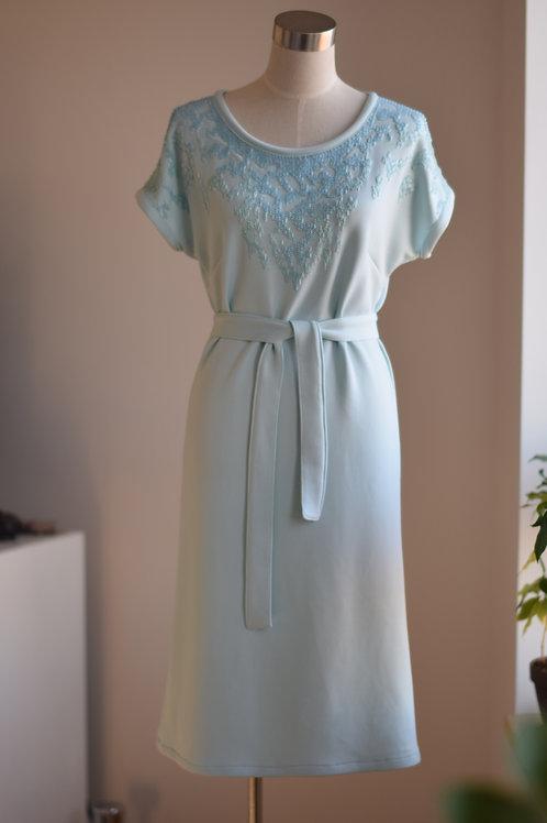 LIGHT BLUE BEADED DRESS