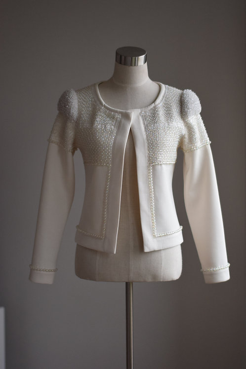 WHITE GRAPHICAL JACKET
