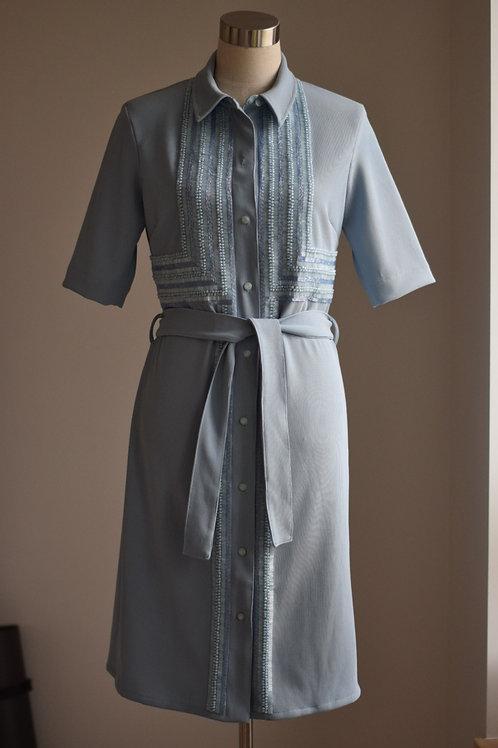 BLUE SHIRT-DRESS