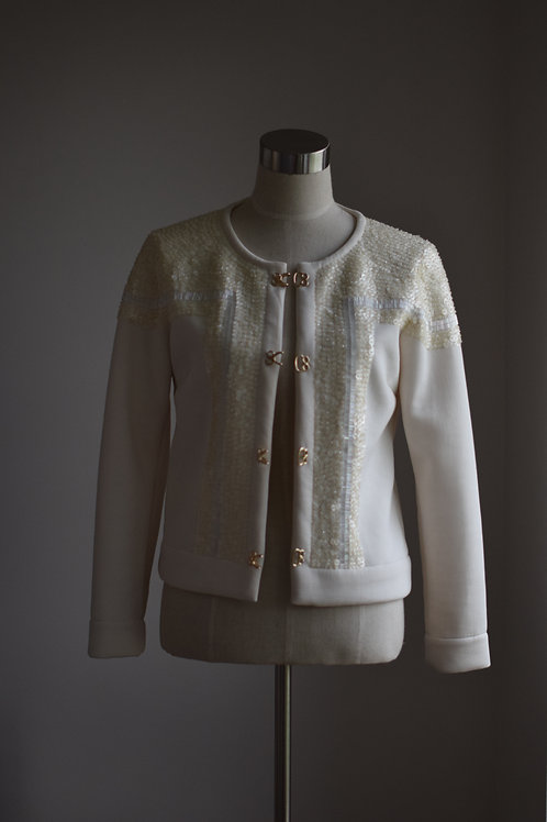 IVORY SEQUIN JACKET