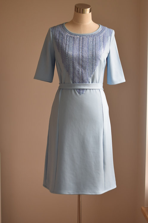 BEADED BLUE DRESS