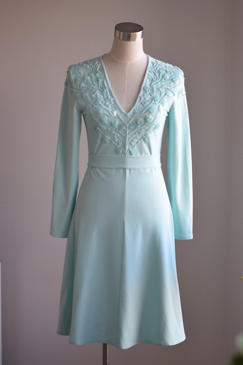 MINTY SEQUINED DRESS