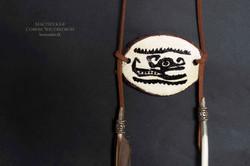 Подвеска бохо с перьями индейские мотивы №2