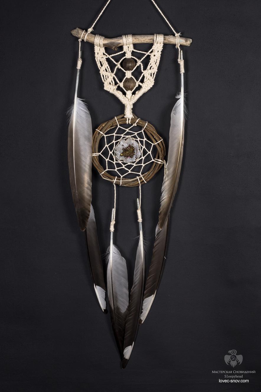 Ловец снов Индеец с кристаллическим сердцем