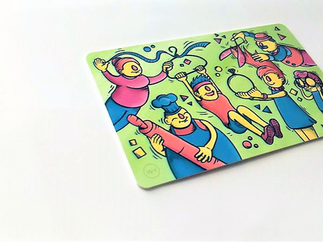 THE NEW CARD IS HERE; COLOURFUL, CHEERFUL & HELPING YOU SUPPORT DREAMS!
