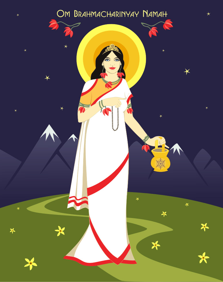 Hindu godness Brahmachari