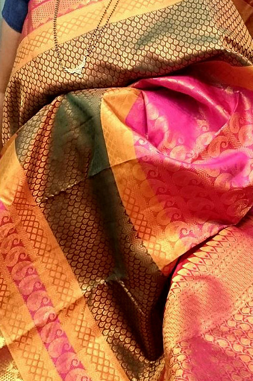 Silk Bridal Brocade with Multi-Patterns