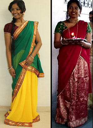 Customised Pavada Dhavani (Half-Sarees)