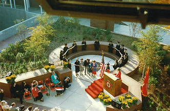 The Mortar Board Court at The Ohio State University