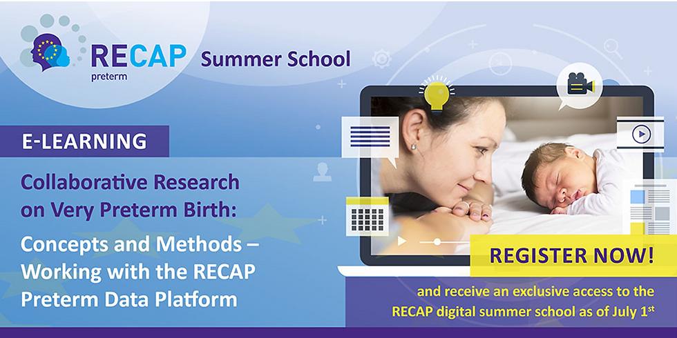 Participez à école d'été numérique RECAP preterm