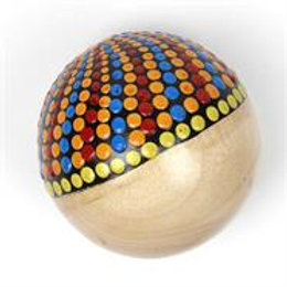 Wooden Dotty Ball Shaker