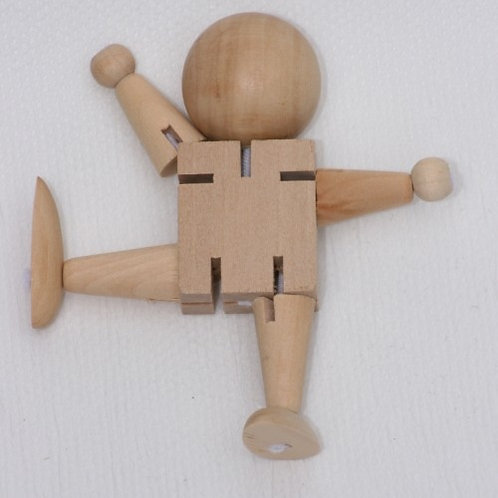 Wooden Poseable Character