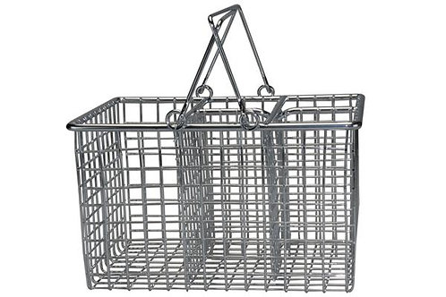Chrome Cutlery Basket - with fold handle