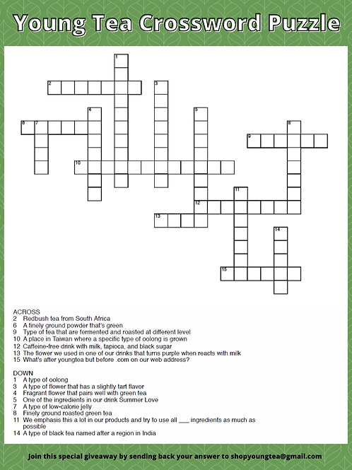 6th Anniversary Crossword Puzzle Giveaway