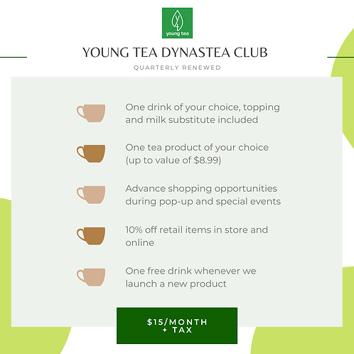 Young Tea VIP Club (Jan - March)