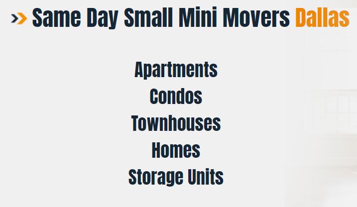 Same day Movers Dallas TX