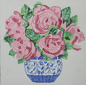 171A Pink Cabbage Rose Bouquet.JPG