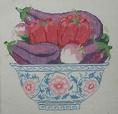 192E Eggplant, Peppers & Turnips in a Bo
