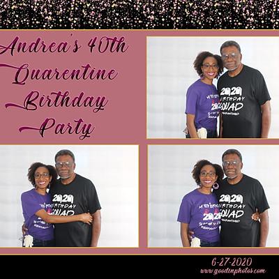Andrea's 40th Quarantine Party