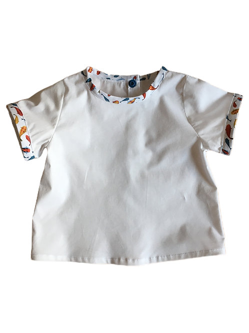 T-shirt Marcel- blanc