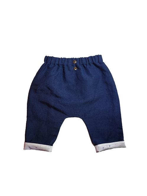 Pantalon sarouel Albert- variante bleu marine