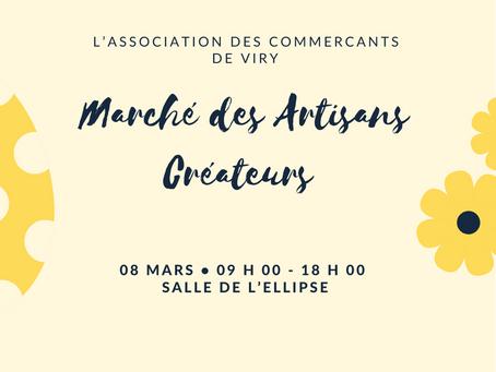 Marché des artisans créateurs -8 mars - Viry