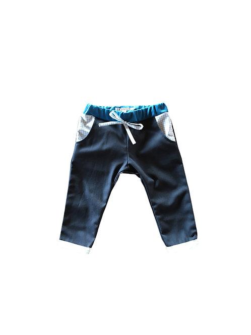 pantalon en toile gabardine bleu marine