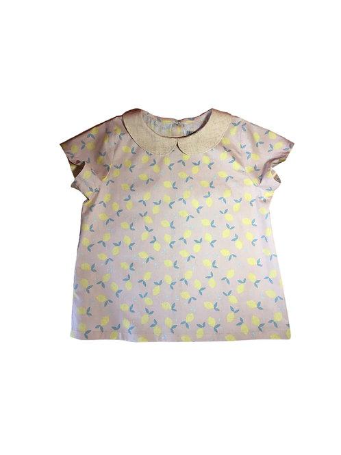 blouse imprimé citron