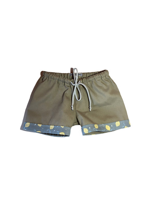 short en coton kaki