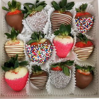 Chocolate covered strawberries custom ordered for a birthday