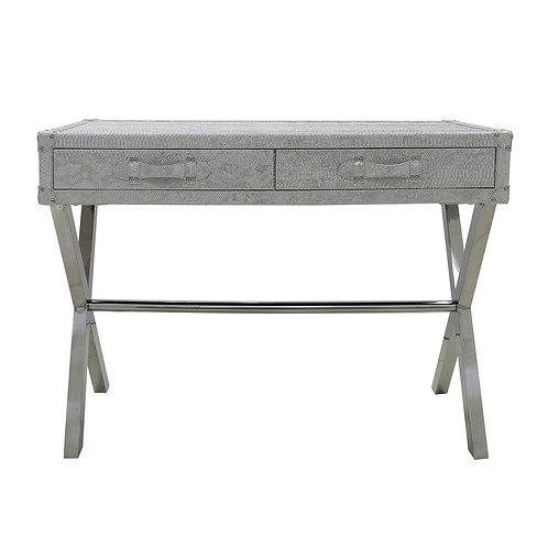 Agathi Pewter Console Table
