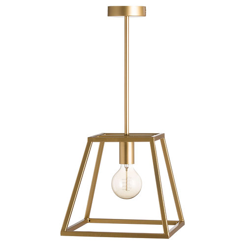 Contemporary Brass Piped Pendant Light