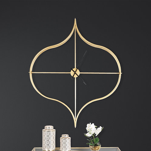 Emma Gold Wall Clock
