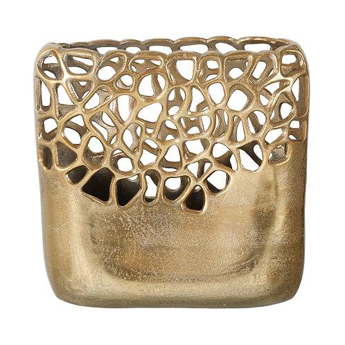 Penelope Gold Coral Vase