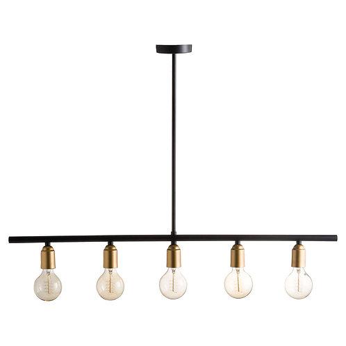 Industrial Five Bulb Bar Light