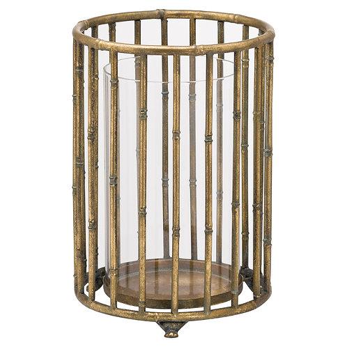 Large Metallic Bamboo Lantern