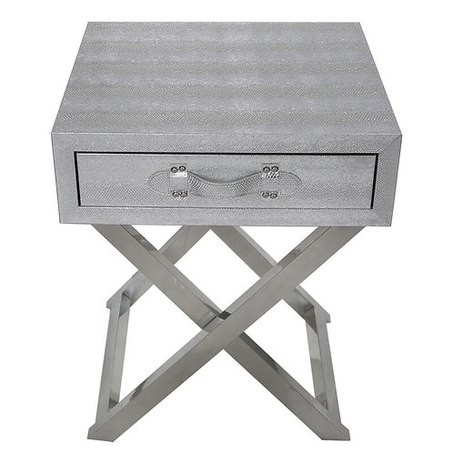 Agathi Pewter End Table