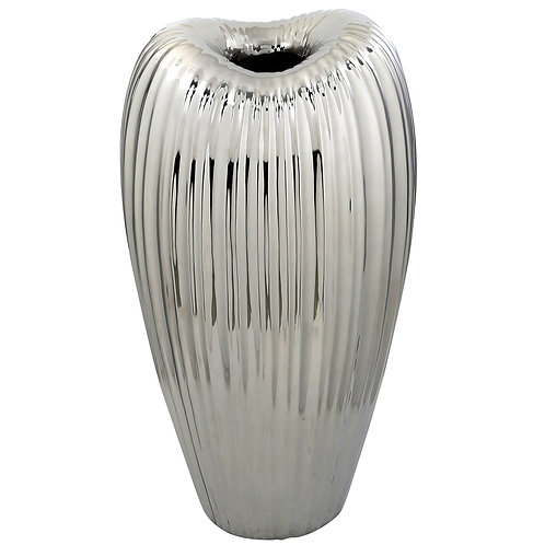 Lotus Ribbed Tall Vase