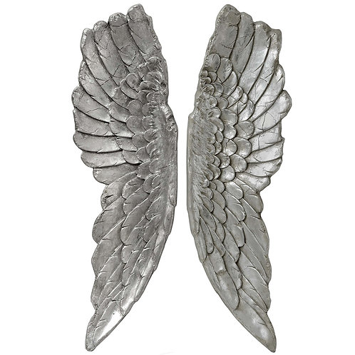 Isabella Silver Large Angel Wings