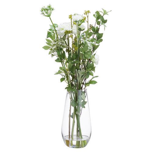 Large Peoni Arrangement In Glass Vase
